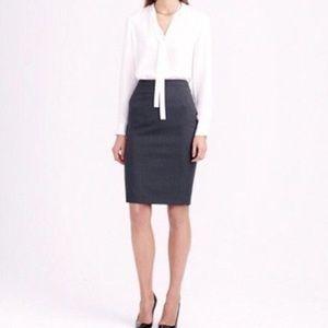 J. CREW Pinstripe Wool Pencil Skirt 6 NEW NWT